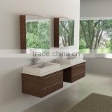 Double Wall Mount Modern Bathroom Vanity White Counter Top Modern European Furniture