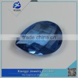 China good quality turtle cut pear shape spinel bead gemstone for silver jewelry