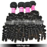 Guangzhou local real virgin Malaysian hair baby curl hair weave