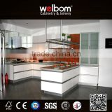 2016 Welbom Hot Modern Europe Style Lacquer Matte Color Kitchen Cabinet with Blum Accessorie Sitchen Cabinets