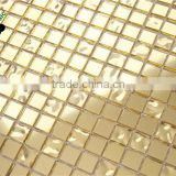 SMG13 yellow gold color similar 24K real gold glass mosaic tiles gold leaf gold foil glass mosaic pattern