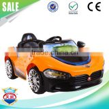 Fashion cool LED flashing light baby electric toy car for child RC battery toy car