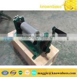 Manual beeswax comb foundation machine with different roller size