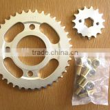 zhengtai C45 CG125 sprocket motorcycle steel chain wheel sprocket of chain and sprocket wheel