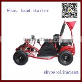 made in china cheap 4 wheel 80cc gas off road go kart pedal for sale