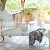 2017 Sigma leisure ways antique white wicker classic italian chaise lounge
