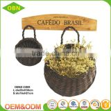 China factory high quality beautiful hanging flower gift basket wholesale decorate your garden