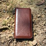 Slim handmade leather phone case wallet iphone 7