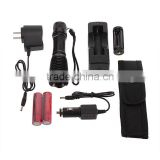 XML-T6 Light LED Flashlight Torch Zoomable 1600LM Flashlight Torch 18650 Battery Charger Holster Highlight Torch Flashlight