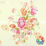 100*150cm Softextile Rose Flower Yellow Cotton Fabric Clothing Soft Fabric Factory Wholesale Price In China Yiwu