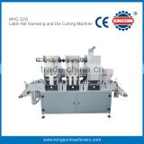 MYG-320 label holographic foil hot stamping and die cutting machine .
