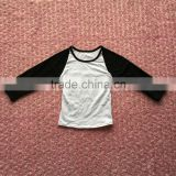 Spring Summer Baby Boys Cotton Long Sleeve Black White Dichromatism Splicing T Shirts