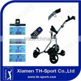 Design remote golf trolley wheels golf trolley