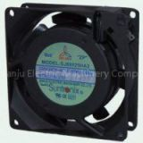SJ8025HA2 80mm Ball or Sleeve bearing Industrial cooling AC Axial Fans, Aluminum 7 blade fan 80x80x2