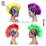 Mohawk Punk Wig Halloween Masquerade Party Wig Disco Stag Hen Style Rainbow Colors Wigs