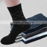 autumn&winter new style 100%cotton men business jacquard socks