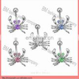 crystal crab deisgn jewelry belly navel ring piercing jewelry