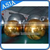 Hot selling silver inflatable mirror ball inflatable pvc balloon for fashion show / decoration