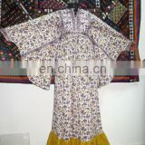 Indian Block Printed Cotton Long Dress Designer Tunic Women Fashionable Partywear Floral Sexy Dress