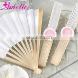 A8209 Stock Market Personalized Wedding White Fans