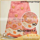 peach nigerian latest george lace for wrapper