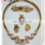 wholesale african jewelry sets 18k gold plated for wedding and party