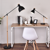 Flexible Wooden Floor lamp light for reading