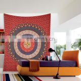 home decor 100% pure cotton contemporary style flower designer indian tapestry