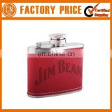 Hot Selling Cheap Leather 6oz Hip Flask