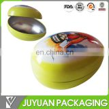 Lovely easter metal tin egg shaped tin container