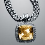 Designs Inspired DY 925 Silver 11mm Champagne Citrine Albion Enhancer