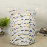 colorful fish printed storage basket large waterproof cotton storage bin foldable customized modern laundry basket