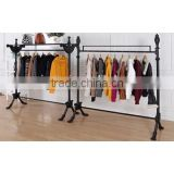 Double Poles Cloth Rack Shop Furniture Garment Display