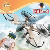 Hot item rc drone radio control toy professional quadcopter with HD camera and FPV H9D-4