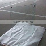 TG-01 Tempered Fireplace glass/Fire screen glass with customer size