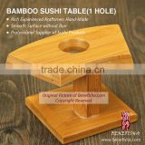 Crafted Bamboo Table for Sushi with one Hole