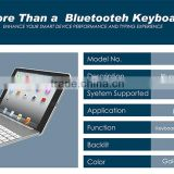 Multifunctional illuminated backlighting Bluetooth 3.0 keyboard for Apple Ipad with great price