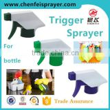 Custom plastic sprayer 28 410 discharge rote 1ML nozzle ribbed closure cleaning trigger sprayer long landle sprayer pump china