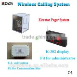 elevator wireless calling system for construction site wireless call button system for emergency lift call bell