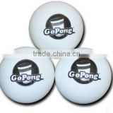 1-2 Color customized printing cheap PP or celluloid beer pong ball pingping ball table tennis balls 6pcs pk