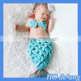HOGIFT Mermaid three-piece suit infant photography Animal shape baby infant clothes