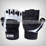 Gym Gloves - Weightlifting Gloves, Made of Goat Skin Leather Weightlifting Fitness Gym Exercise Gloves