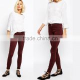 new pattern jeans pants, ladies summer red jeggings on sale                                                                         Quality Choice