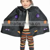 Halloween Party black Satin Cape Costumes with pop ball
