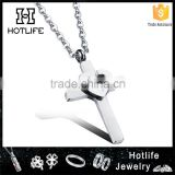 2016 fashion cross necklace stainless steel jewelry                                                                         Quality Choice
