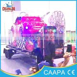 2015 hot sale amusement park track ride kiddie rides portable mini flying car with trailer for sale