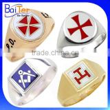 Custom Stainless Steel 18K Gold Scottish Masonic Knights Templar Ring/Royal Arch Masonic Rings