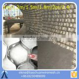 Hex Steel And Tortoise Shell Mesh For Refractory Lining