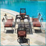 Outdoor leisure aluminum garden metal dining table set furniture CA-628TC                                                                                         Most Popular