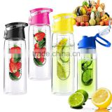 2016 Hot Sell 24Oz Fruit Infuser, Sport Water Bottle with TRITAN Material, BPA Free Durable Tumbler for Travel Hiking Bike